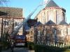Pour atteindre le chéneau de l'église et le grenier de l'aile du bâtiment