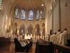 L\'Eglise abbatiale en août 2005, pendant la grand-messe.