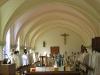 Première concélébration dans la chapelle provisoire.
