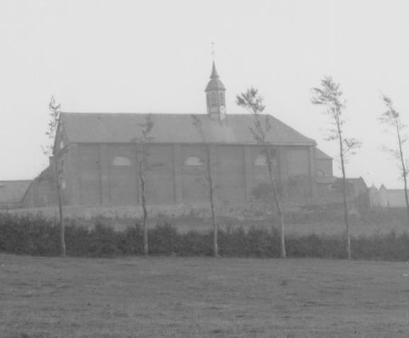 La façade Nord de l'église abbatiale vers 1850