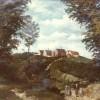 1870 Peinture à l'huile, vue depuis le Mont de Boeschepe