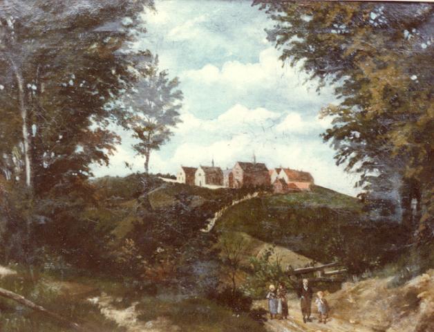 1875 Peinture à l'huile, vue depuis le Mont de Boeschepe