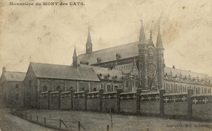 1898 St Constance depuis la route, après la construction du nouveau monastère