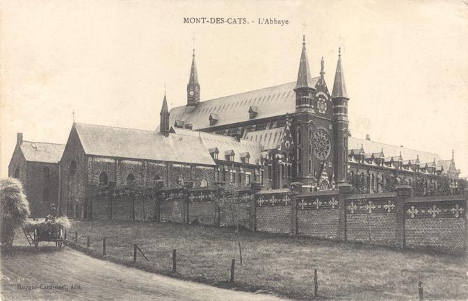 Entrée Abbaye et ancienne hôtellerie derrière l'Eglise Saint Constance, vers 1898