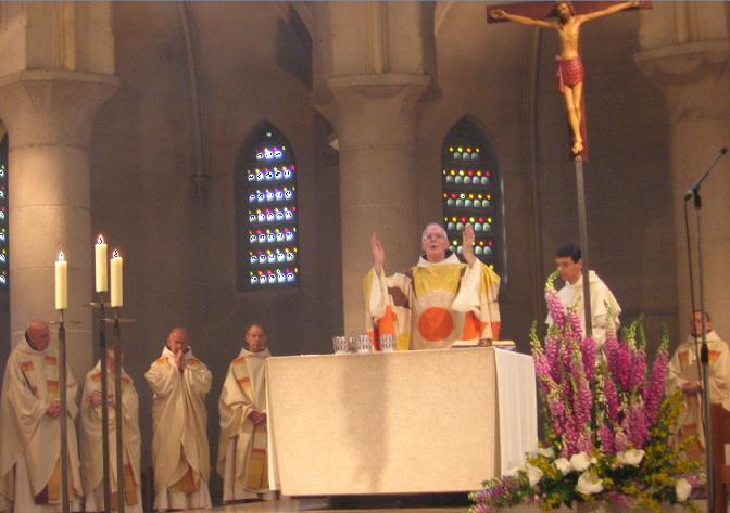 25 juin 2005, Jubilé de 50 ans de sacerdoce de Dom André, célébré au Mont des Cats