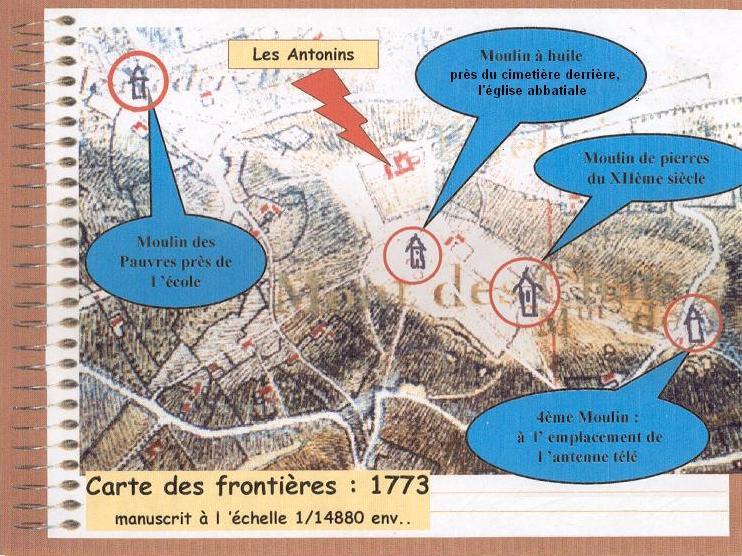 Plan cadastral de 1773, le couvent des Antonins
