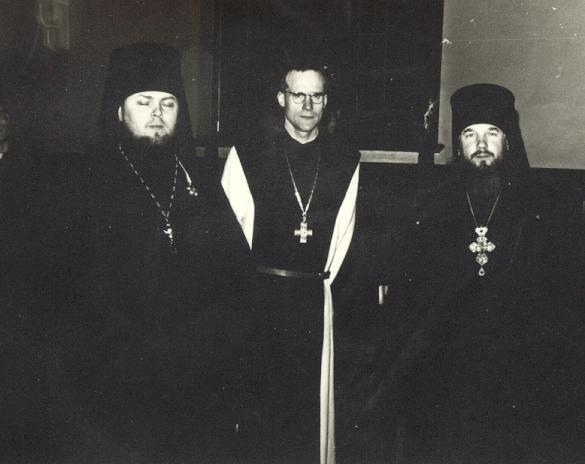 Archimandrite et hieromoine russes au Mont des Cats 1968