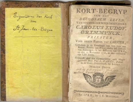 Biographie de Charles Grimminck éditée l'année après sa mort