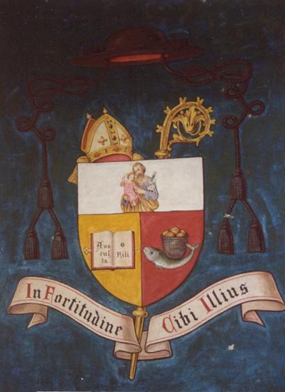 Blason abbatial de Dom Sébastien Vandermarlière