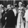 Bruges procession saint sang 1967, avec au premier plan le Père Abbé de Saint André, Dom Théodore Ghesquière