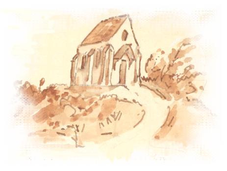 Chapelle de la Passion, dessin de Père Eugène