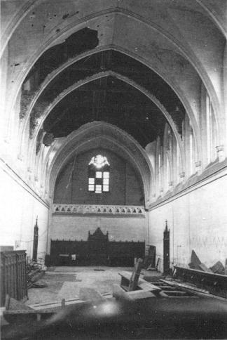L'Eglise après le bombardement de 1940