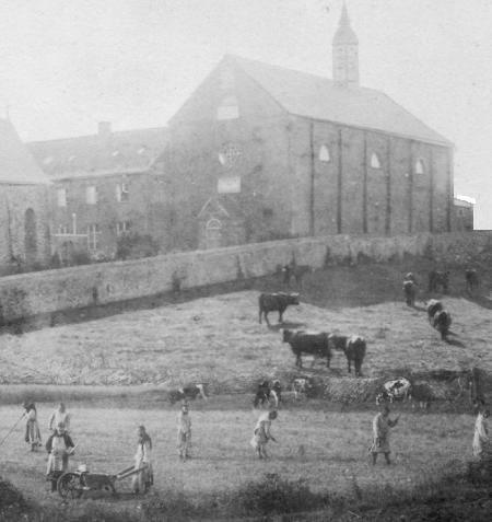 Eglise côté Nord, vers 1850