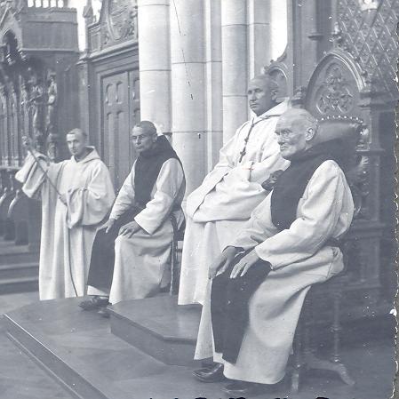 Dom Jérôme Parent, dans l'église abbatiale