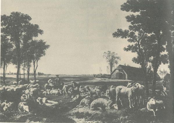 Koningshoeven, les fermes du Roi, d'après une peinture de 1835