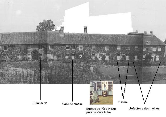 La dispositions des locaux dans le batiment façace sud 1828
