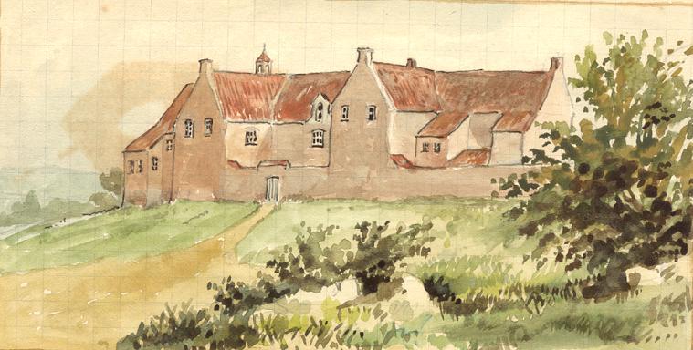 Le bâtiment des Antonins face Nord, dessin de Père Eugène Arnould