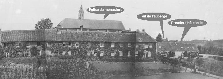 Le monastere en 1850, avec mention des principaux bâtiments.
