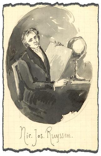 Nicolas Ruyssen, dessin de P. Eugène