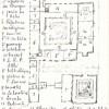 Plan au sol du monastère de 1870, croquis de Père Eugène
