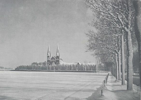Tilburg l'Abbaye sous la neige