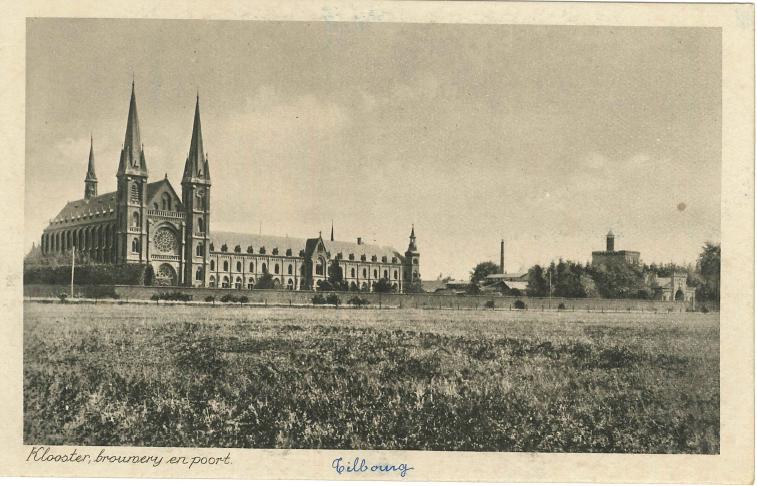 Tilburg, l'Abbaye, la Brasserie et le portail d'entrée