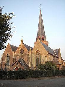 Watou, Eglise Saint Bavon, Charles Grimminck y est enterré dans le choeur