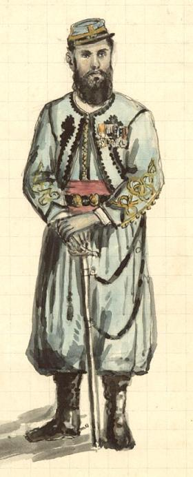 Herny Wyart portant la tenue des zouaves pontificaux