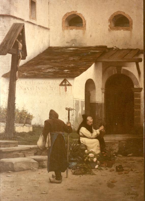 L'entrée du monastère vers 1828