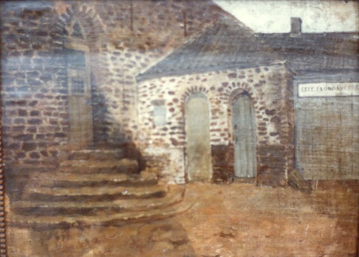entrée du monastère vers 1880