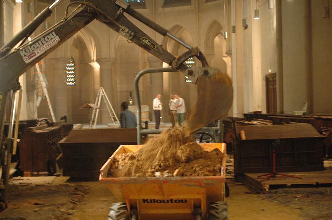 Chantier de l'église 2004