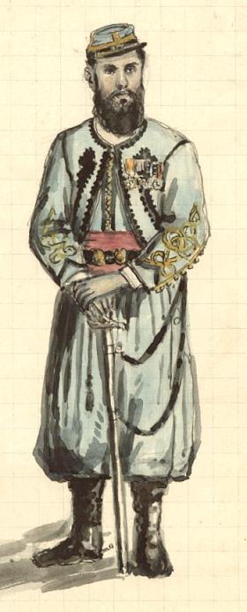 Henry Wyart en grande tenue de zouave