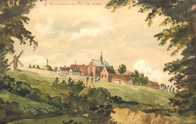 1847 vue generale Père Eugène avec le calvaire