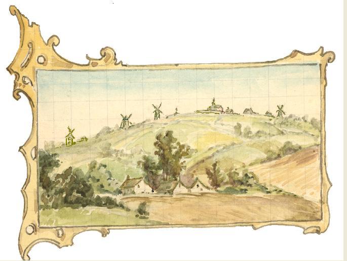 1847 vue generale Père Eugène, dans un encadrement