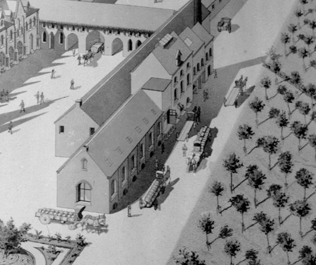 1898 le transport de la bière sortie de la brasserie (projet Destombes)