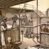 1898 le travail dans la brasserie, dessin