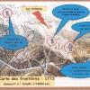 Plan cadastral 1773, le couvent des Antonins, le moulin et le calvaire