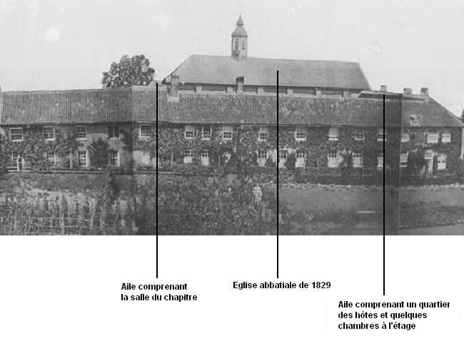 1839 le monastère vu face sud, description des lieux