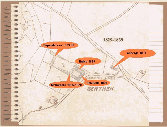 Plan cadastral de 1839, avec mention des locaux à cette époque