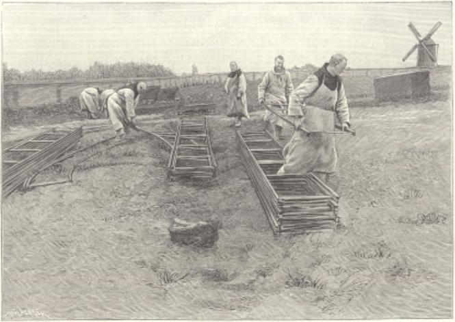 1897 Pose d'un Decauville pour le terrassement