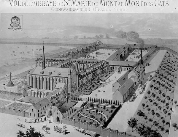 1889 Projet de reconstruction de l'Abbaye par Paul Destombes