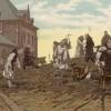 1892 travaux de terrassements, derrière l'aile du réfectoire-dortoir