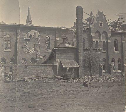 1918 : aile du réfectoire et du dortoir