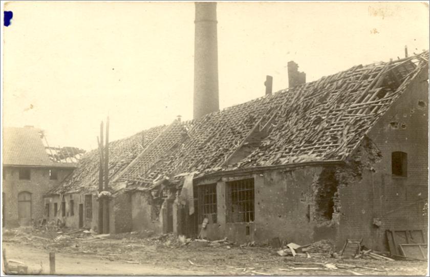 1918 : La brasserie bombardée