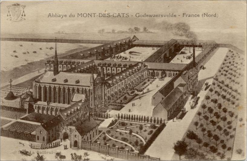 Vue cavalière de l'abbaye 1898