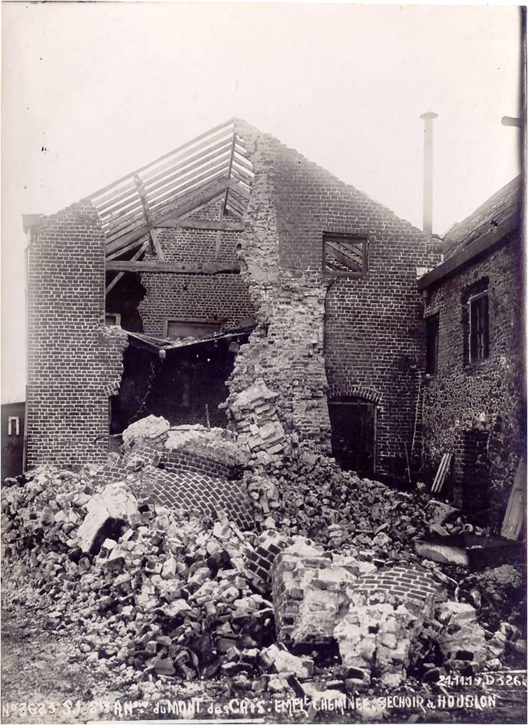 1918 : le séchage du houblon en ruines