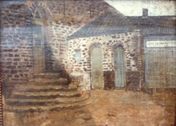 1847 détail de la porterie du monastère