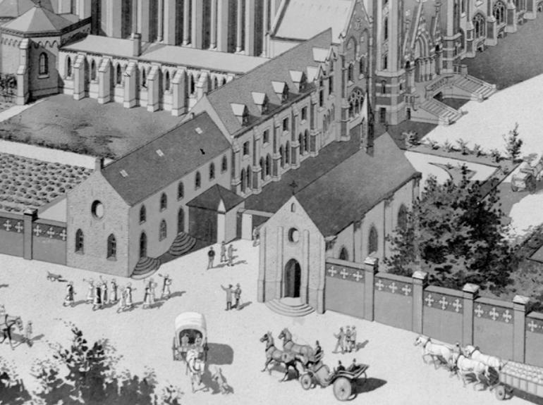 Détail du projet de 1892 : le portail d'origine
