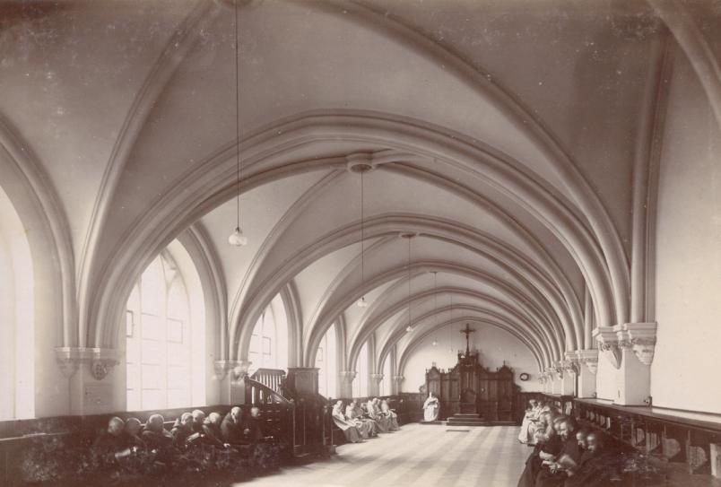La salle du chapitre pour la lecture de Complies