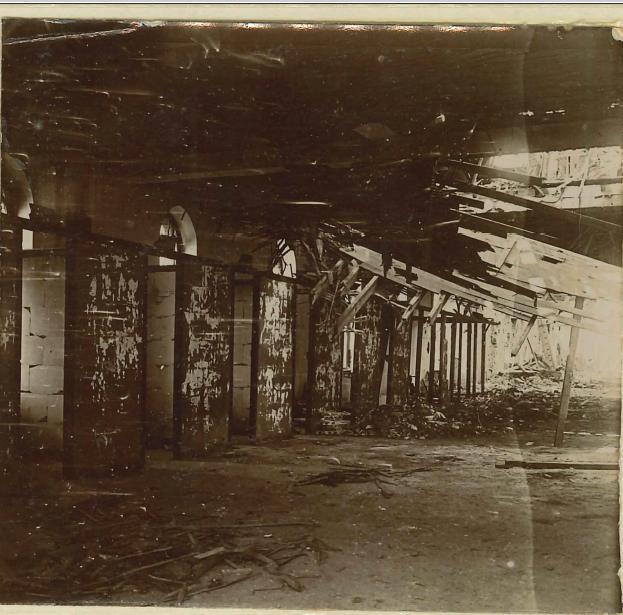 L'intérieur de la brasserie